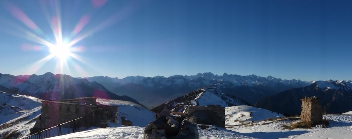 Gondrands sommet pistes montgenevre
