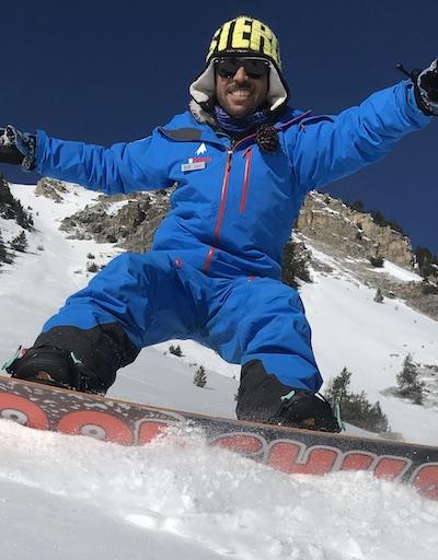Luca moniteur de snowboard