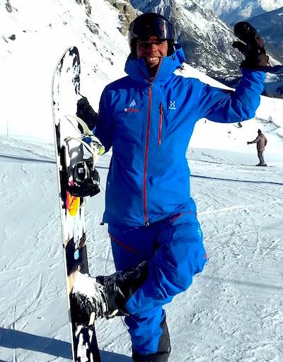Nils snowboard ski montgenevre