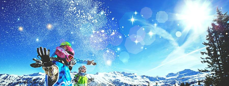Enfants ski souris montgenevre